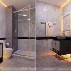 THIẾT KẾ NỘI THẤT CHUNG CƯ RIVERSIDE GARDEN VŨ TÔNG PHAN:  Phòng tắm by Công Ty TNHH Xây Dựng & Nội Thất ECO Việt Nam
