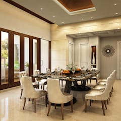 DINING AREA :  Dining room by JM: The Design Consultant