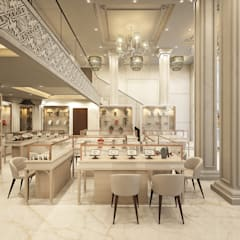 Jewellery display area :  Offices & stores by JM: The Design Consultant