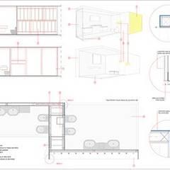 ROCA, Showroom pavilion for the presentation of the new collection.: Espacios comerciales de estilo  de Studioapart