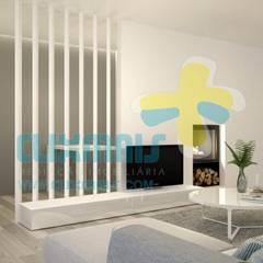 3D Sala 1: Salas de estar  por Clix Mais