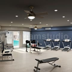 Gym design Ideas by Yantram Architectural Visualisation Studio - Los Angeles, USA: modern Gym by Yantram Architectural Design Studio