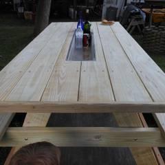 AHŞAP SEPETİ – Piknik Masaları Modelleri 2: akdeniz tarzı tarz Bahçe