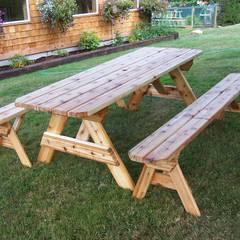AHŞAP SEPETİ – Piknik Masaları Modelleri 3:  tarz Ön avlu