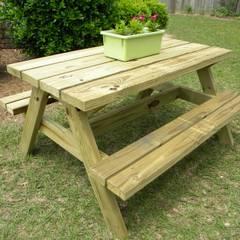 AHŞAP SEPETİ – Piknik Masaları Modelleri 4:  tarz Ön avlu