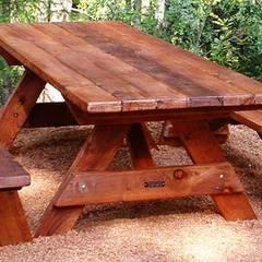 AHŞAP SEPETİ – Piknik Masaları Modelleri 5:  tarz Ön avlu