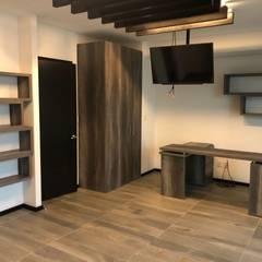 minimalistic Study/office by BIM Arquitectos S.A. de C.V.