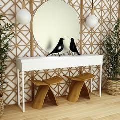 Hall - Gold & White: Corredores e halls de entrada  por Paulo Faria Design