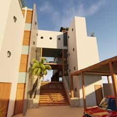 : Cabañas de madera de estilo  por Pangea Arquitectura & diseño