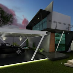 Garajes abiertos de estilo  por Pangea Arquitectura & diseño