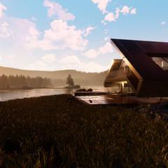 Satteldach besonders modern interpretiert:  Villa von Avantecture GmbH