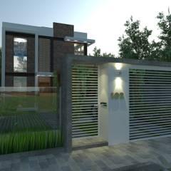 CASA AJ: Casas familiares  por MVK Arquitetura, Engenharia e Construções