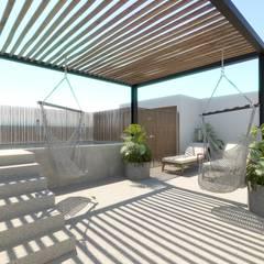 Rooftop: Terrazas de estilo  por Taller Veinte