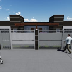 Casas pequenas e modernas.: Casas geminadas  por L2 Arquitetura & Interiores