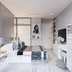 VẺ ĐẸP CĂN HỘ VINHOMES VỚI THIẾT KẾ HIỆN ĐẠI NỔI BẬT:  Phòng ngủ by ICON INTERIOR