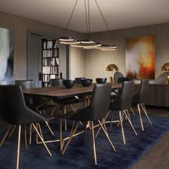 Formal Dining Room:  Dining room by FALCHI INTERIORS LTD