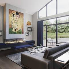 Formal Lounge: modern Living room by FALCHI INTERIORS LTD