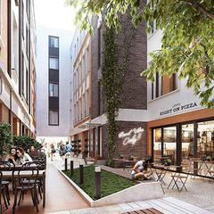 Commercial architecture / Architektura komercyjna: styl , w kategorii Hotele zaprojektowany przez Kola Studio Architectural Visualisation
