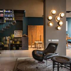 Vista de sala: Salas de estilo  por Paola Calzada Arquitectos