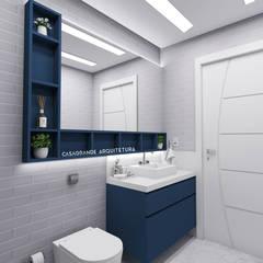 Banheiro Masculino - Azul: Banheiros modernos por CASAGRANDE ARQUITETURA