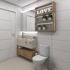 Banheiro Simples: Banheiros modernos por CASAGRANDE ARQUITETURA