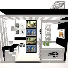 VISTA 4: Escaleras de estilo  por Karla Alvarez - Arquitectura de Interiores