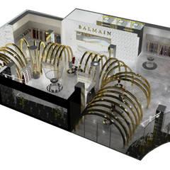 TIENDA BALMAIN : Suelos de estilo  por Karla Alvarez - Arquitectura de Interiores , Minimalista