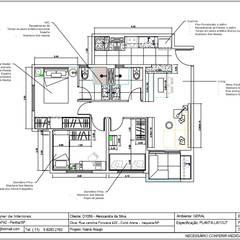 Planta baixa geral - descritiva: Pavimentos  por Nainá Julio  - Designer de Interiores