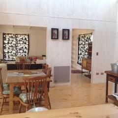 Comedores de estilo  por Casas del Girasol- arquitecto Viña del mar Valparaiso Santiago