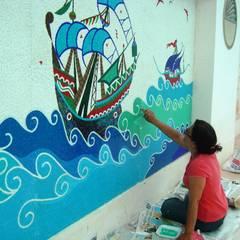 Mozaik Sanat Evi – Kısıklı Evleri Havuz Çalışması:  tarz Havuz