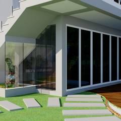 Jardim de Inverno no quiosque: Jardins de fachadas de casas  por Candido & Candido - Arquitetura | Engenharia