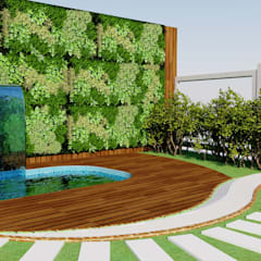 Quiosque: Jardins de fachadas de casas  por Candido & Candido - Arquitetura | Engenharia