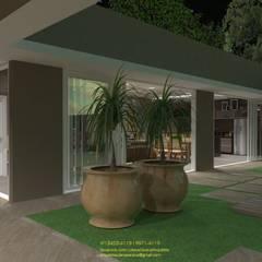 Paisagismo: Jardins de fachadas de casas  por Juliana Saraiva Arquitetura & Interiores
