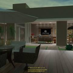 Espaço de lazer: Jardins de fachadas de casas  por Juliana Saraiva Arquitetura & Interiores