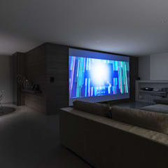 Media room by GIAN MARCO CANNAVICCI ARCHITETTO