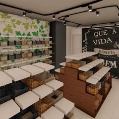 Oficinas y Tiendas de estilo  por TRAIT ARQUITETURA E DESIGN