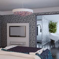 Дизайн современной спальни: Спальни в . Автор – студия Design3F, Модерн