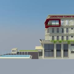 EDIFICIO LABORATORIOS: Clínicas / Consultorios Médicos de estilo  por TECTUM Diseño & Construccion