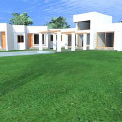 CASA REYES: Casas unifamiliares de estilo  por AOG