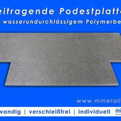Podestplatten für Eingangsbereiche, Vorgärten oder Terrassenzugänge:  Treppe von Mineralit - Mineralgusswerk Laage GmbH