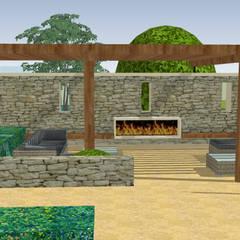 Stable House:  Zen garden by Aralia
