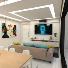 Projekty,  Sprzęty RTV zaprojektowane przez STUDIO TERRASSE ARQUITETURA & INTERIORES LTDA
