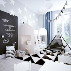scandinavian Nursery/kid's room by Айрис Эстет