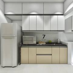 Residence at Raheja Horizon Greeens:  Kitchen by The 7th Corner - Interior Designer