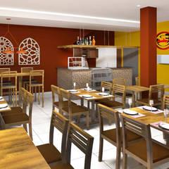 Projeto - Comercial: Espaços gastronômicos  por Fernanda Quelhas Arquitetura