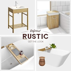 Rustic accessories:  Bathroom by Victoria Plum