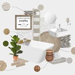 Rustic accessories scheme:  Bathroom by Victoria Plum