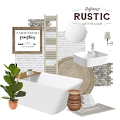 rustic small mood board:  Bathroom by Victoria Plum