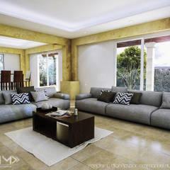 Sala : Salas de estilo colonial por EMM Studio