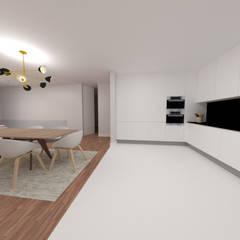 Sala comum: Cozinhas embutidas  por IAM Interiores